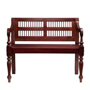 Boston Loft Furnishings Country 31-lbs 32-in x 38.75-in x 20.50-in Mahogany Accent Indoor Bench
