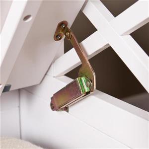 Boston Loft Furnishings Sweeney 44-Lbs 26.26-In x 45-In x 19.25-In Casual White Indoor Storage Bench