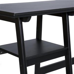 Boston Loft Furnishings Langston Black Computer Desk