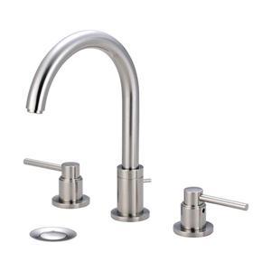 Pioneer Industries Motegi Brushed Nickel 2-Handle Widespread Deck Mount Bathroom Sink Faucet With Drain