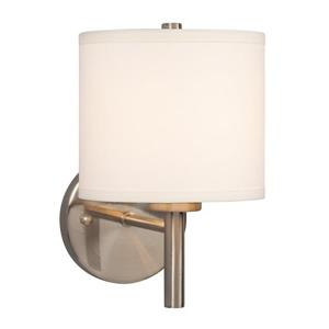 Galaxy Ansley 6.7-in W 1-Light Brushed Nickel Arm Wall Sconce