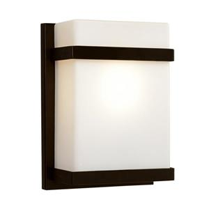 7.5-in 1-Light Bronze Pocket Wall Sconce