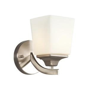 Galaxy Newbury 5-in W 1 Light Brushed Nickel Arm Wall Sconce