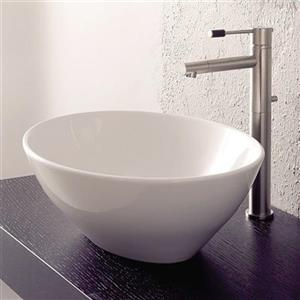 Nameeks Scarabeo Ovo White Vessel Oval Bathroom Sink