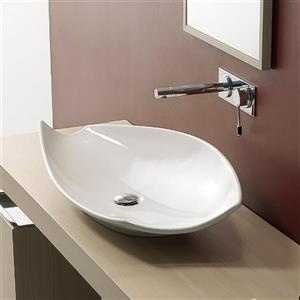 Nameeks Scarabeo Kong White Vessel Elliptical Bathroom Sink