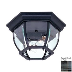 Artcraft Lighting Classico 10.75-in Rust 2-Light Outdoor Flush Mount Light