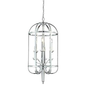 Eurofase Senze 18-in Chrome Transitional Cage 6-Light Pendant