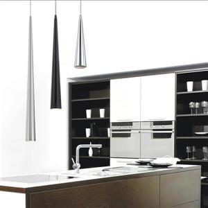 Eurofase Sliver 2.75-in x 24-in Black Modern Mini Cone Pendant