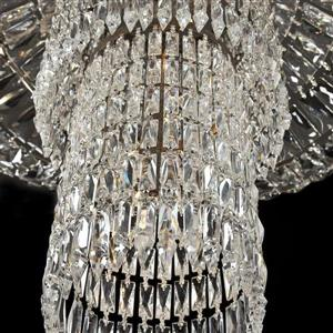 Eurofase Rosalia 16.25-in Antique Silver Leaf Crystal Modern Pendant