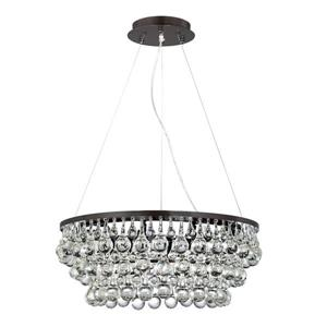 Eurofase Canto 24.5-in Oil Rubbed Bronze Clear Glass Traditional Waterfall 8-Light Pendant