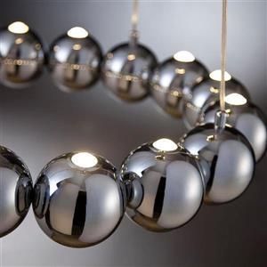 Eurofase Pearla 23.75-in Chrome Modern Multi-Light Globe LED Pendant