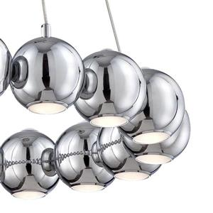 Eurofase Pearla 29-in Chrome Modern Multi-Light Globe LED Pendant