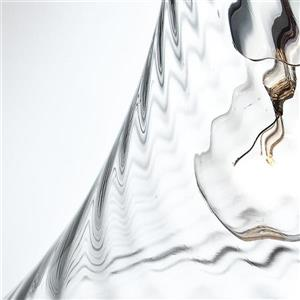 Eurofase Bloor 10-in Chrome Clear Textured Glass Modern Bell Pendant