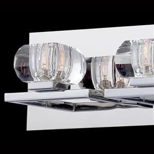 Eurofase Casa Chrome Bowl 3 Light Bathroom Vanity Light