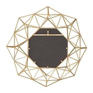 Boston Loft Furnishings Laurel 29-in x 29-in Matte Gold Beveled Octagon Wall Mirror