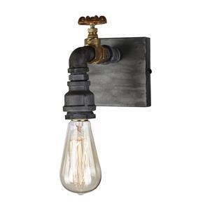 Artcraft Lighting American Industrial 4.75-in W 1-Light Iron/brass Arm Wall Sconce