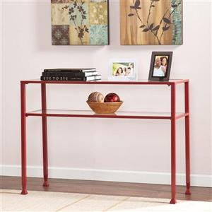 Boston Loft Furnishings Lea Clear Glass Modern Console Table