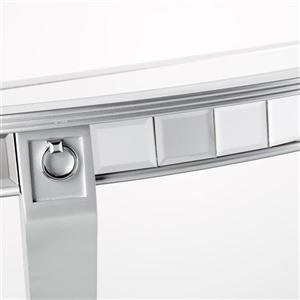 Boston Loft Furnishings Leyton Mirrored Glass Modern Console Table
