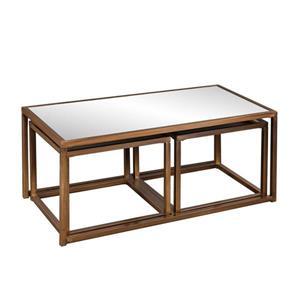 Boston Loft Furnishings Alden 3-Piece Mirrored Accent Table Set