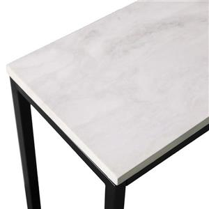 Boston Loft Furnishings Annie Marbled White Faux Marble Modern Console Table