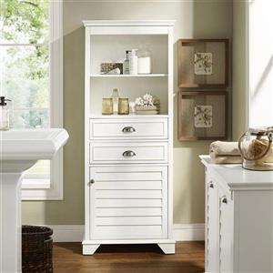 Crosley Furniture Lydia 24.5-in x 60-in White Composite Freestanding Linen Cabinet