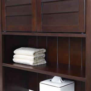 Crosley Furniture Lydia 27-in x 66.5-in Espresso Composite Freestanding Linen Cabinet