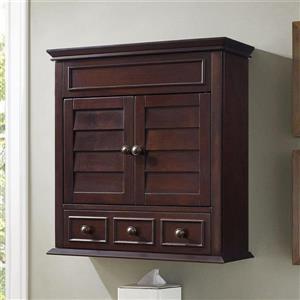 Crosley Furniture Lydia 24.25-in x 25.75-in Espresso Composite Freestanding Linen Cabinet