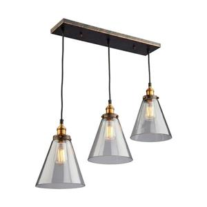 Artcraft Lighting Greenwich 30.0-in W 3-Light Multi-Tone brown/copper Transitional Kitchen Island Light with Clear Shade