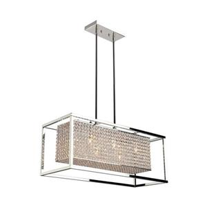 Artcraft Lighting Vega 28.5-in W 6-Light Stainless steel Modern/contemporary Kitchen Island Light with Crystal Shade