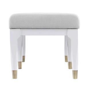 Boston Loft Furnishings Dalkin Midcentury 18.50-In x 52-In White Linen Accent Bench