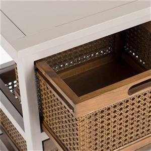 Safavieh Jackson Rectangular Grey Wood Storage Console Table