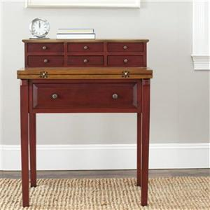 Safavieh Abigail Cherry Honey Oak Fold-Down Writing Desk