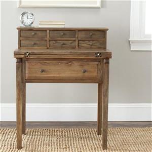 Safavieh Abigail Medium Brown Fold-Down Writing Desk