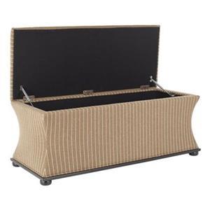 Safavieh Aurora 20.50-in x 36.20-in Brown/Cream Linen Storage Bench
