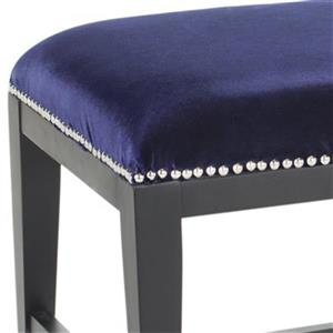 Safavieh Mercer Zambia 19.50-in x 45.90-in Royal Blue Indoor Accent Bench