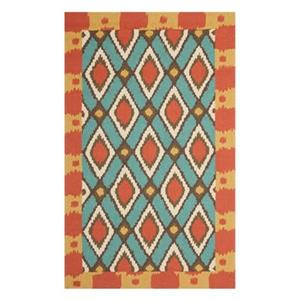 Safavieh FRS455L Four Seasons Area Rug, Light Blue / Red,FRS