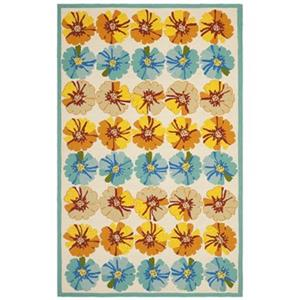 Safavieh FRS469A Four Seasons Ivory and Blue Area Rug,FRS469