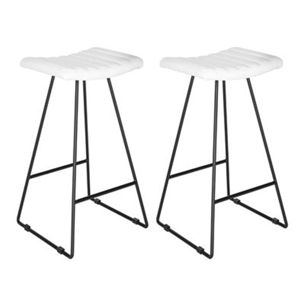 Wondrous Safavieh Fox Akito 16 50 In X 30 In White Faux Leather Bar Lamtechconsult Wood Chair Design Ideas Lamtechconsultcom