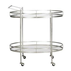 Safavieh Fox 29.7-in x 30-in Silver/Mirror Lavinia Bar Cart