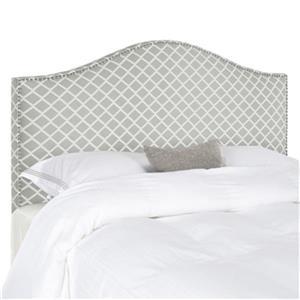 Safavieh Connie 4.5-ft x 6.5-ft Grey/White Diagonal Plaid King Headboard