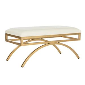 Moon Arc Faux Leather Bench