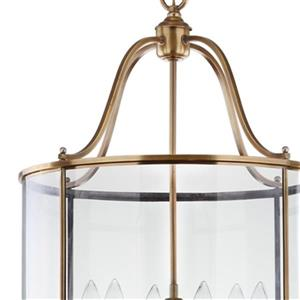 Safavieh Sutton Place 6 Light Brass Pendant Light