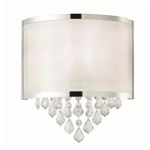 Canarm Ltd REESE 11.2-in x 12.5-in x 4.25-in Crystals and Chrome Wall Sconce