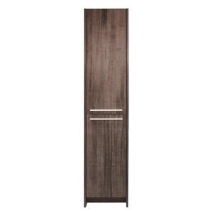 Luxo Marbre 15.75-in x 74.75-in Alamo Oak Melamine 2-Door Side Cabinet