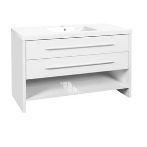 Luxo Marbre Relax 48.25-in White Bathroom Vanity with Marble Top