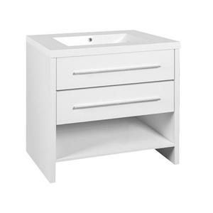 Luxo Marbre Relax 30.25-in White Bathroom Vanity with Marble Sink