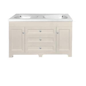 Luxo Marbre Classic Vanity - 2 Sinks - 3 drawers - 47.25-in - MDF
