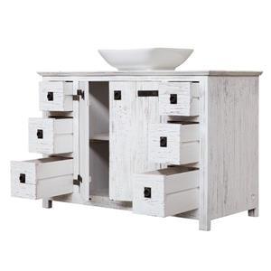 Luxo Marbre Artisan 48-in x 32-in White 6 Drawers Wood Vanity