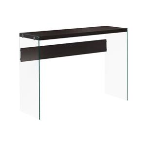 Monarch 44-in x 32-in Cappuccino Glass Accent Table