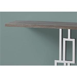 Monarch 47.25-in x 31.75-in Brown Composite Accent Table